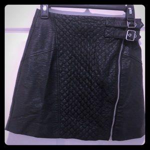 Leather mini skirt (H&M)
